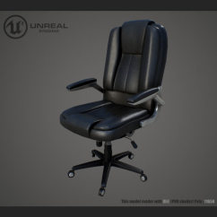 Office Chair 3d Model Inexpensive Dining Room Covers Game Ready Cgtrader Low Poly Max Obj Mtl Fbx 1