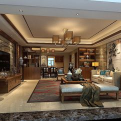 Chinese Living Room Leather Rooms Sets Design China 3d Cgtrader