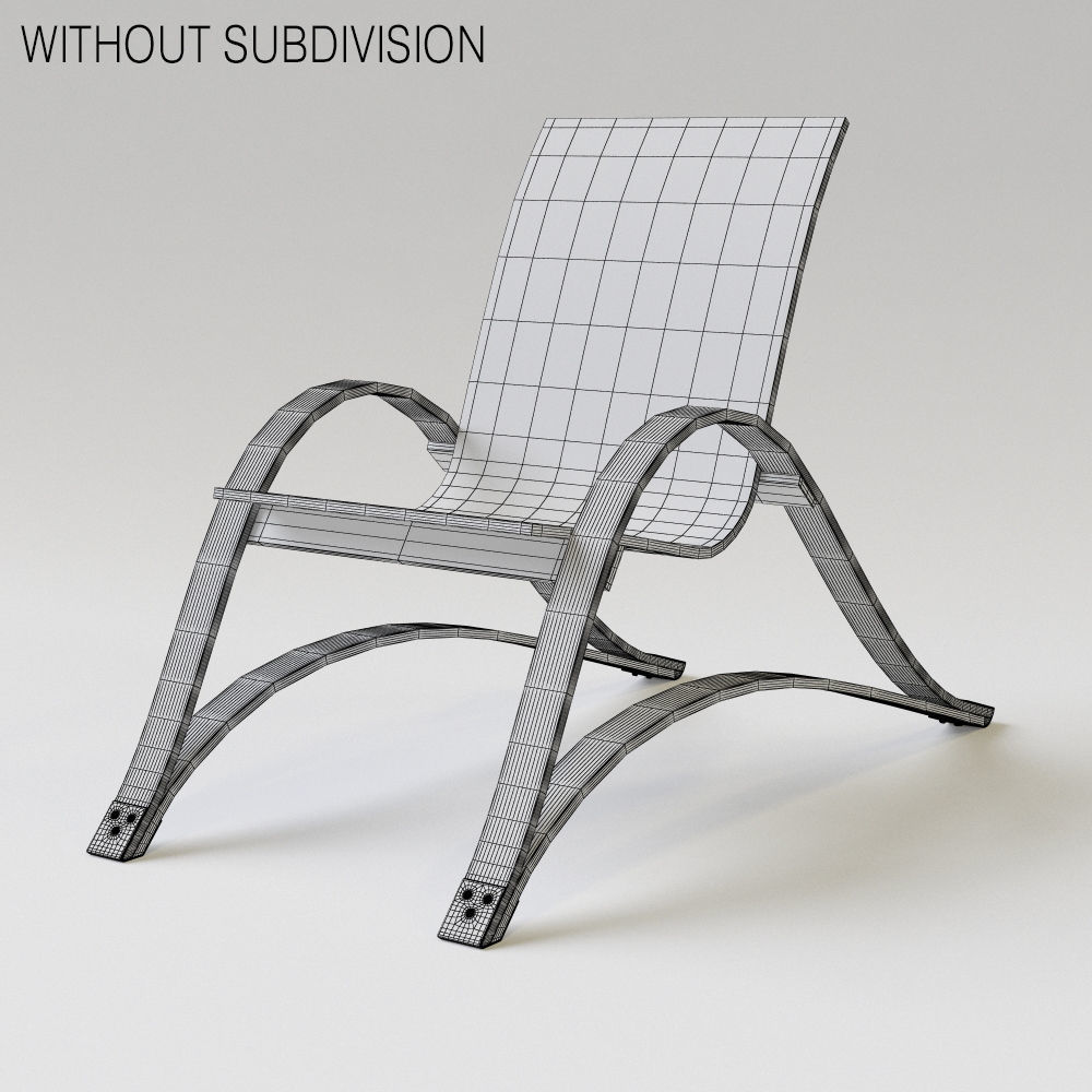 Spring Chair Bow Spring Chair 3d Model