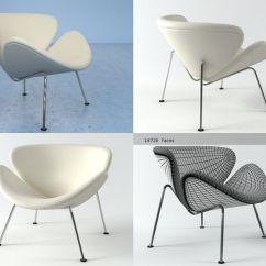Orange Slice Chair Kohls Cushions 3d Model Cgtrader