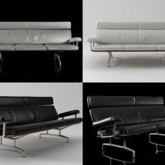Eames Sofa 3 Seat Jcpenney Sleeper 3d Seater Cgtrader Model Max Obj Mtl Fbx C4d Skp Unitypackage Prefab 1