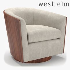 Swivel Chair West Elm Red Leather Counter Chairs Luther 3d Cgtrader Model Max Obj Mtl Fbx 1
