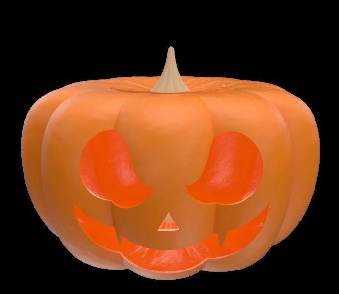 3d halloween pumpkin with