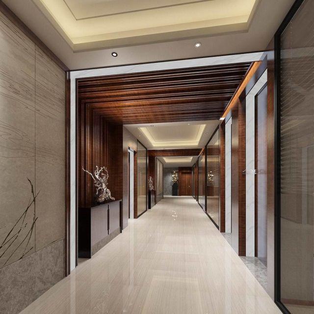office reception hall design complete 05 3D model