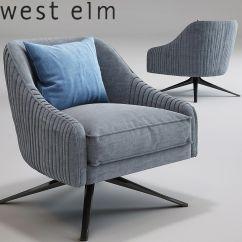 Swivel Chair West Elm Linen Club Slipcovers 3d Roar Rabbit Cgtrader Model