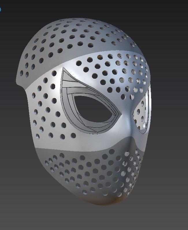 Spiderman Face Shell : spiderman, shell, Spiderman, Homecoming, Faceshell, Print, Model