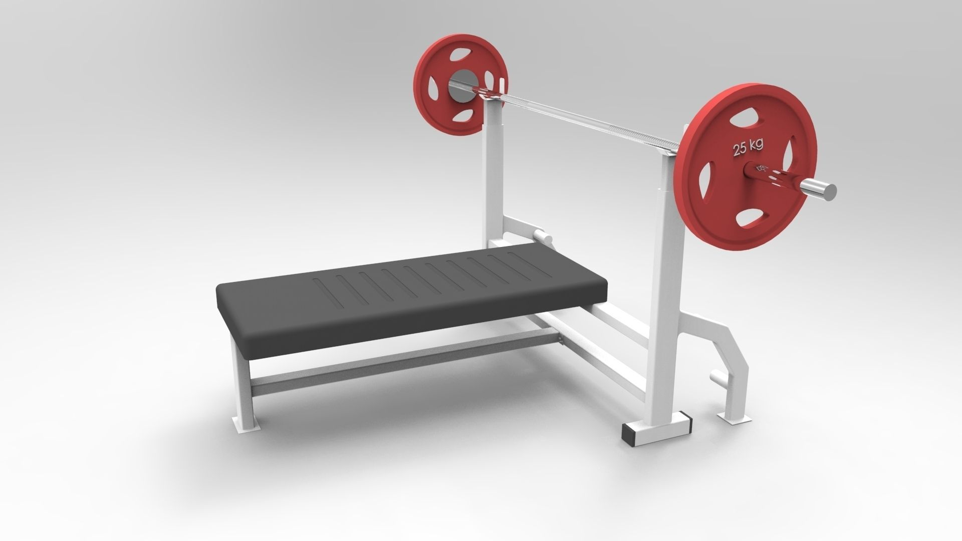 gym chest chair covers rental montreal press bench barbell 3d model sldprt sldasm