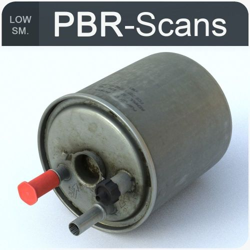 small resolution of fuel filter low sm low poly 3d model