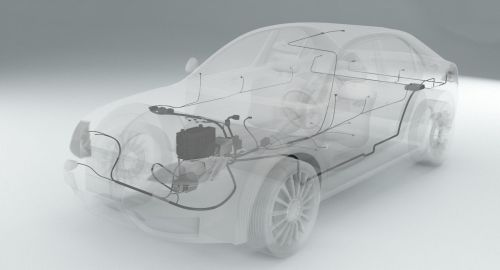 small resolution of wiring inside a car 3d model