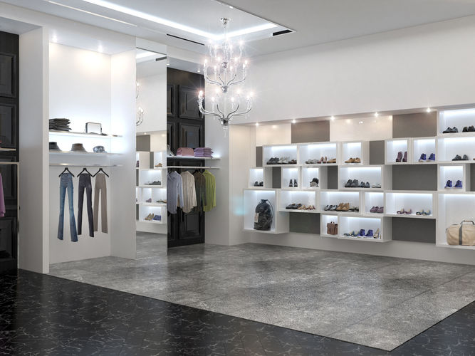 Clothing Store Interior Philipp Plein 3D Model CGTrader