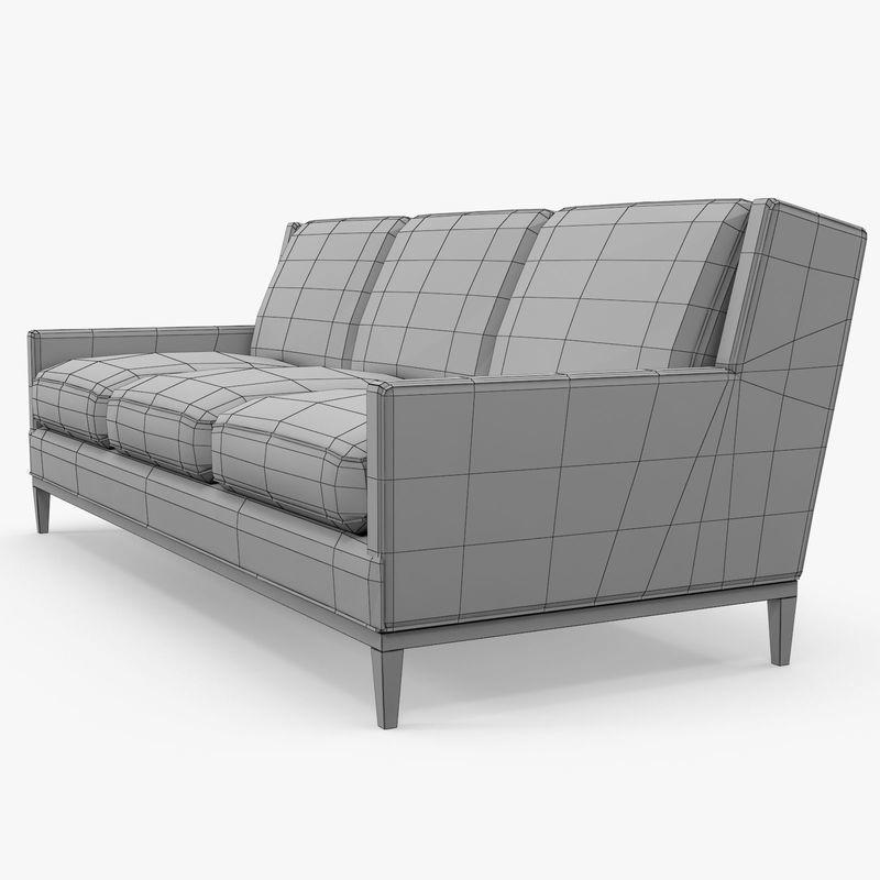 a rudin sofa 2859 eames compact review three seat 3d cgtrader model max obj mtl 3ds fbx 9