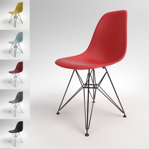 eames bucket chair cover hire hertford vitra plastic dsr blender cycles 3d cgtrader model