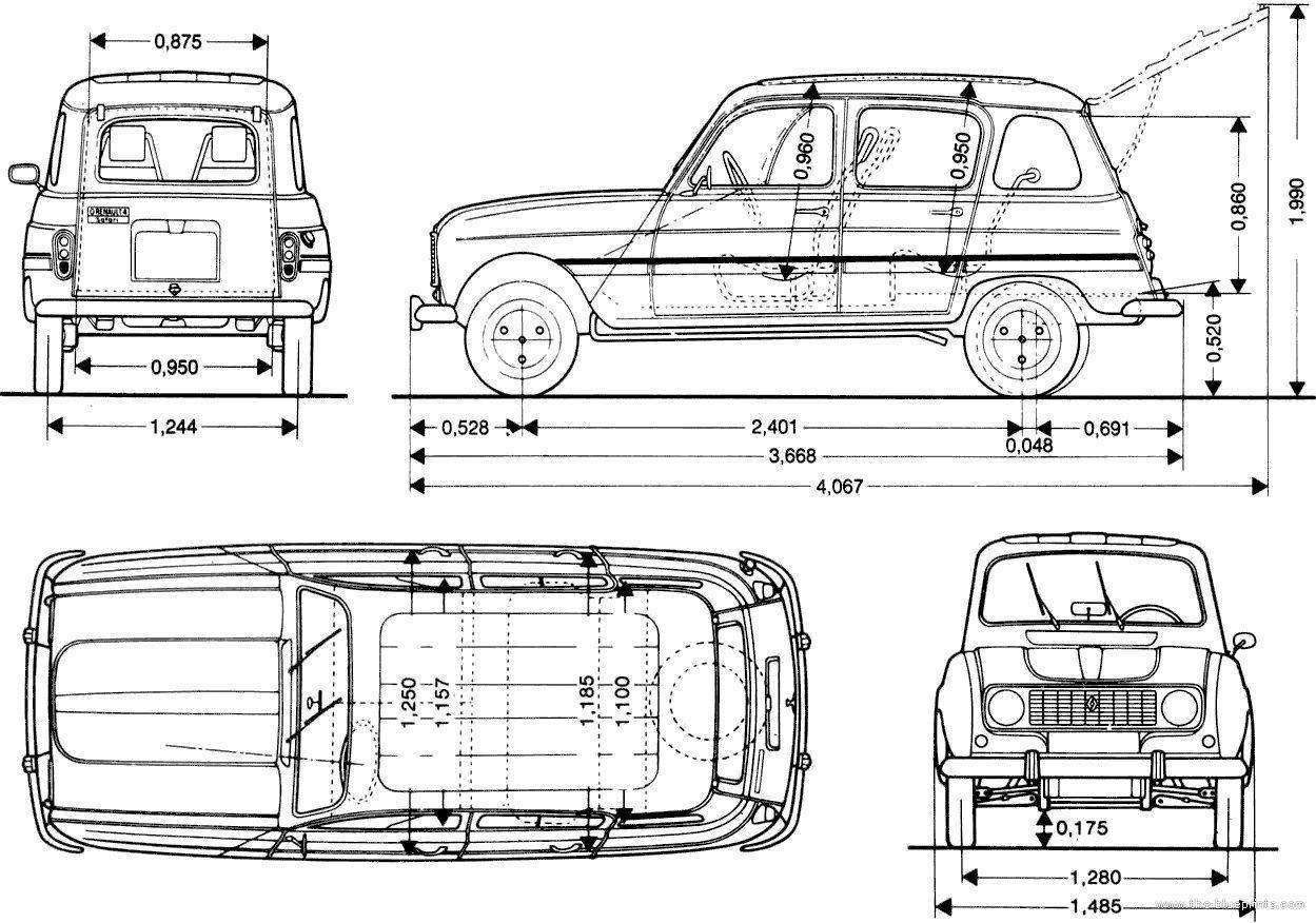 Renault 4 Free 3d Model 3dm