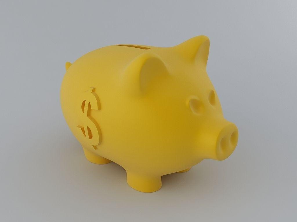 Piggy Money Bank 3d Model 3d Printable Stl