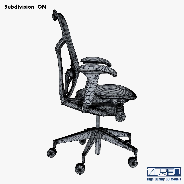mirra 2 chair chromcraft chairs vintage herman miller 3d model max obj mtl fbx