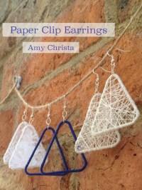 DIY paper clip lace earrings - CraftSmile