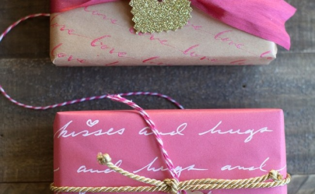 Diy Personalized Love Letter Gift Wrap Craftsmile