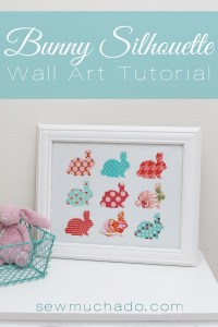 Bunny Silhouette Fabric Wall Art - CraftSmile