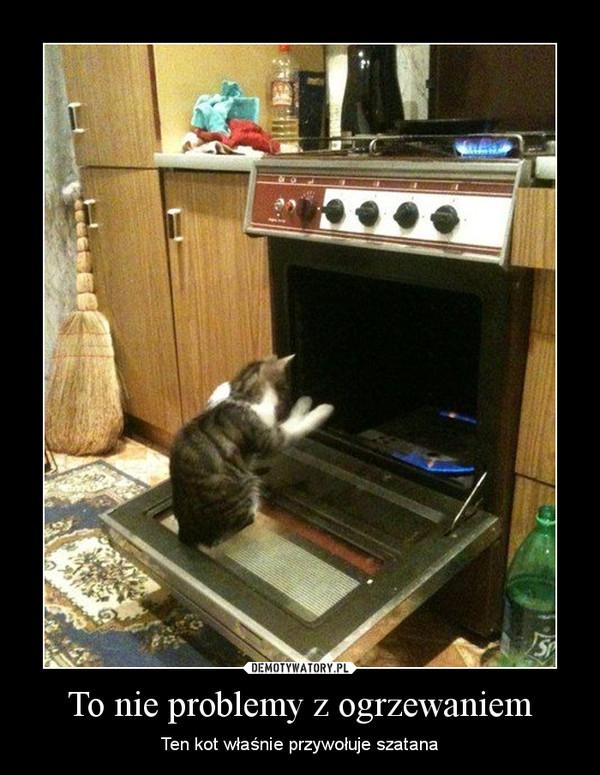 To nie problemy z ogrzewaniem – Ten kot właśnie przywołuje szatana