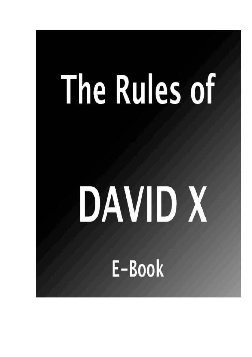 Download The Rules of David X