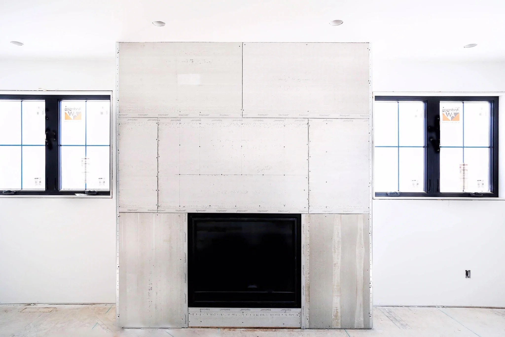 how to diy a faux concrete fireplace