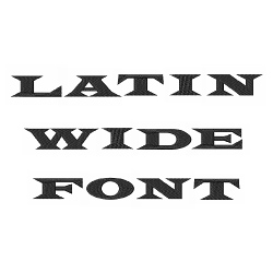 Embroidery Patterns Styles Embroidery Fonts: Latin Wide