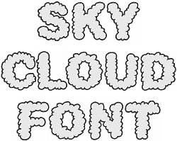 Cloud Font by Embroidery Patterns Home Format Fonts on