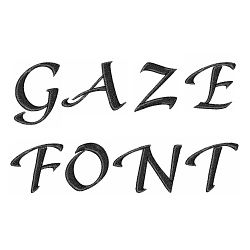 Gaze Font by Embroidery Patterns Home Format Fonts on