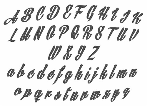 AnnTheGran Styles Embroidery Fonts: Tattoo Font 1.50 inches H