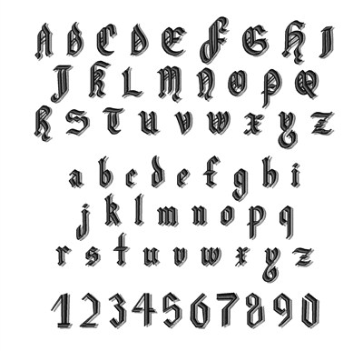 Embroidery Patterns Classification Embroidery Fonts