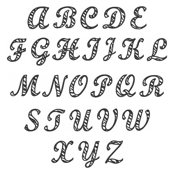Great Notions Home Format Fonts Embroidery Fonts: Zebra