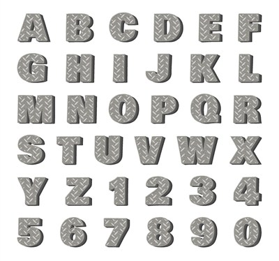 Hopscotch Styles Embroidery Fonts: Steel Plate Font 1.25