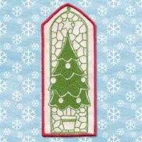 Christmas Tree Window Embroidery Designs, Machine ...
