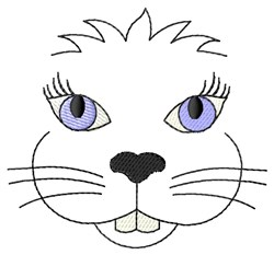 Bunny Face Embroidery Designs, Machine Embroidery Designs