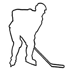 Hockey Outline Embroidery Designs, Machine Embroidery