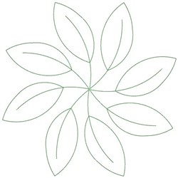 Leaf Circle Embroidery Designs, Machine Embroidery Designs
