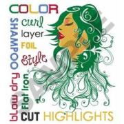 hair stylist terms embroidery design