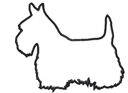 Scottie Dog Outline Embroidery Designs, Machine Embroidery