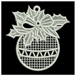 Lace Christmas Ornaments Machine Embroidery
