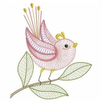 Rippled Bird Embroidery Designs, Machine Embroidery ...
