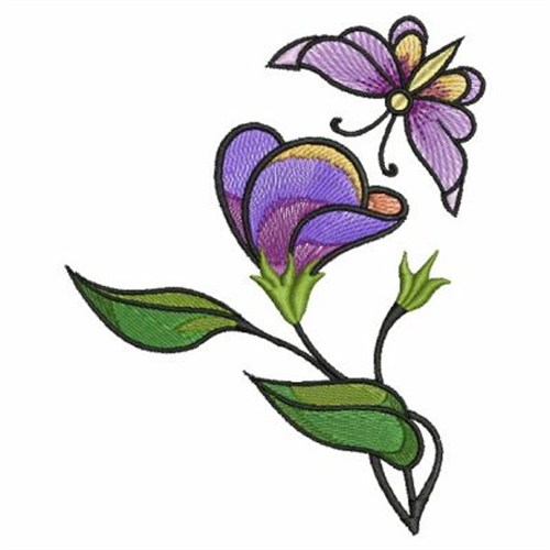 sweet pea embroidery # 42