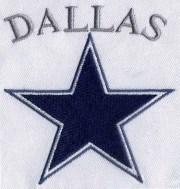 dallas star embroidery design