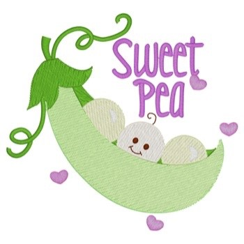 sweet pea embroidery # 31