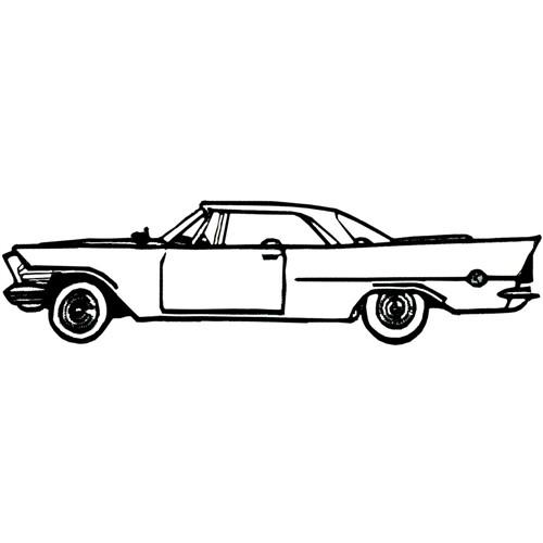 Grand Slam Designs Embroidery Design: Classic Car Outline