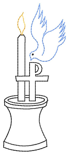 Baptism Candle Embroidery Designs Machine Embroidery