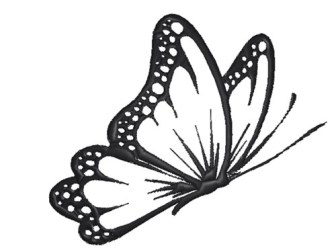 Butterfly Outline Embroidery Designs Machine Embroidery Designs at EmbroideryDesigns com