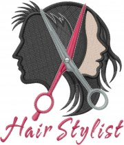 hair stylist embroidery design