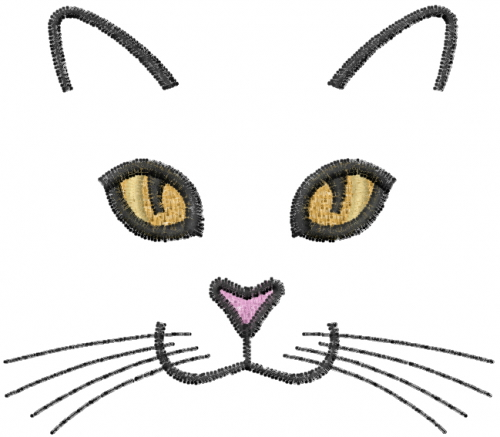 Cat Face Embroidery Designs, Machine Embroidery Designs at