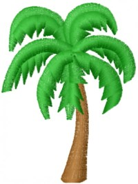 Mead Artworks Embroidery Design: Palm Tree 2.00 inches H x ...