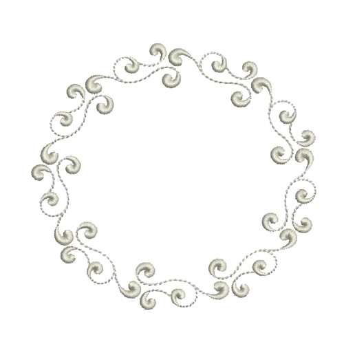 Monogram Circle Frame Embroidery Designs, Machine